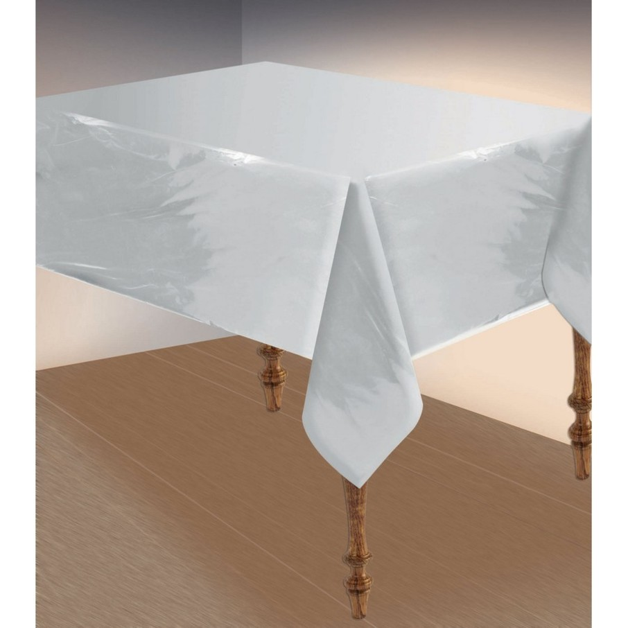 View larger image of Metallic Silver Table Cover