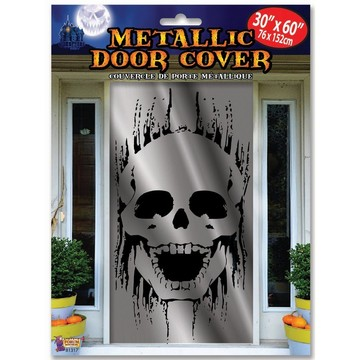 Metallic Skull Door Cover