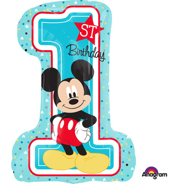 "Mickey 1st Birthday 28"" Shape Balloon (Each)"