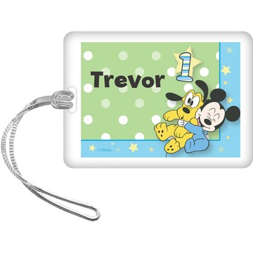 Mickey 1st Birthday Personalized Bag Tag (Each)