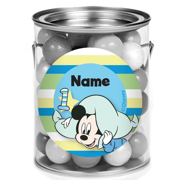 Mickey 1St Birthday Personalized Mini Paint Cans (12 Count)