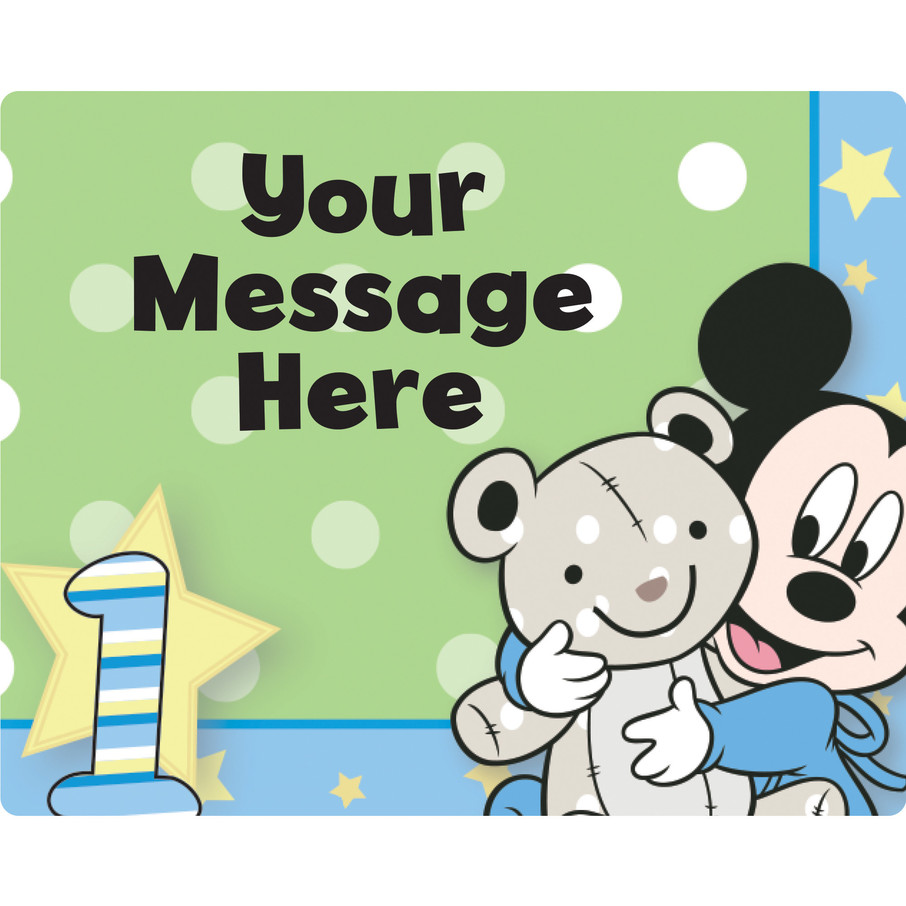 View larger image of Mickey 1St Birthday Personalized Rectangular Stickers (Sheet of 15)