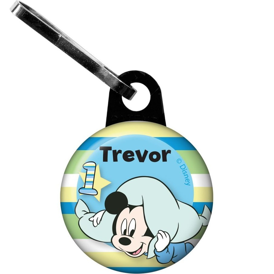 View larger image of Mickey 1st Birthday Personalized Zipper Pull (Each)