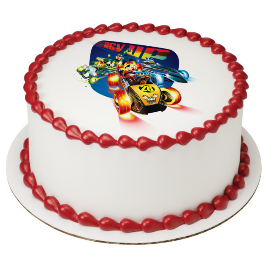 """View larger image of Mickey And The Roadster Racers 7.5"""" Round Edible Cake Topper (Each)"""