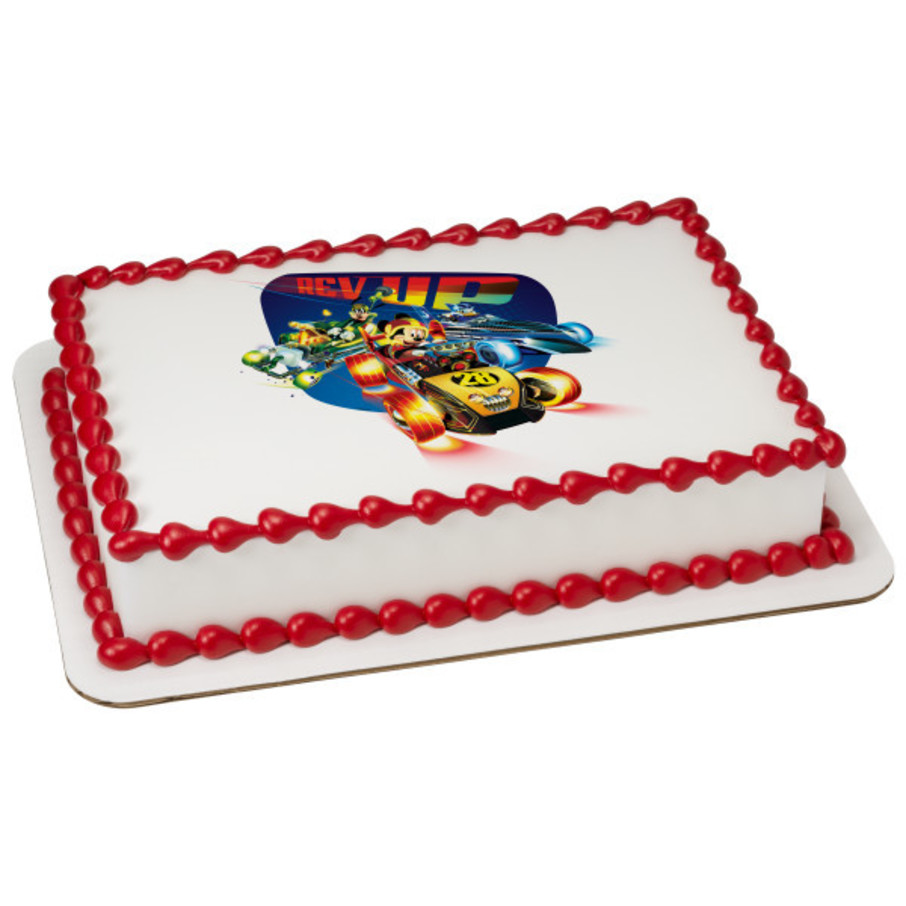View larger image of Mickey And The Roadster Racers Quarter Sheet Edible Cake Topper (Each)