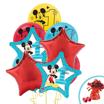 Mickey Mouse 1st Birthday Balloon Bouquet Kit