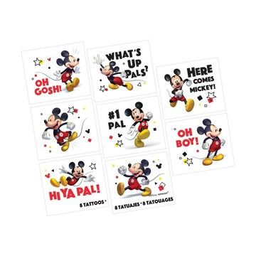 Mickey Mouse Forever Tattoo Favors