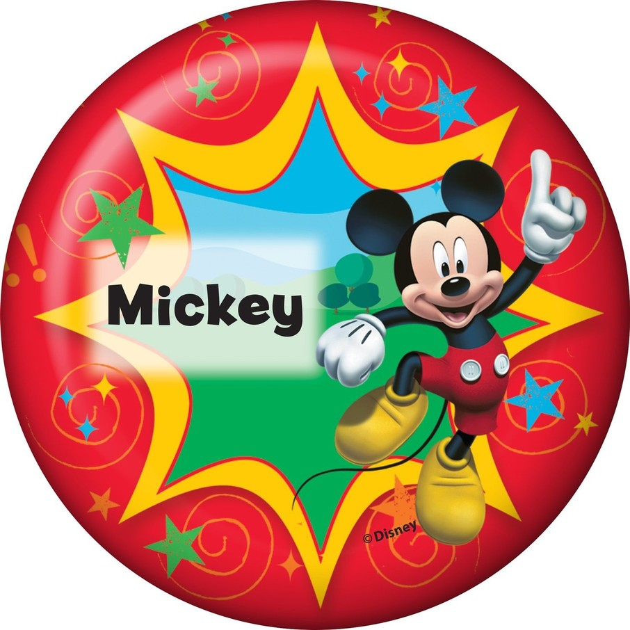 View larger image of Mickey Mouse Personalized Button (Each)