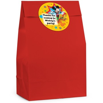 Mickey Mouse Personalized Favor Bag (Set Of 12)