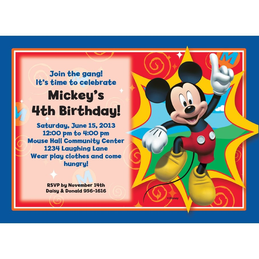 View larger image of Mickey Mouse Personalized Invitation (Each)