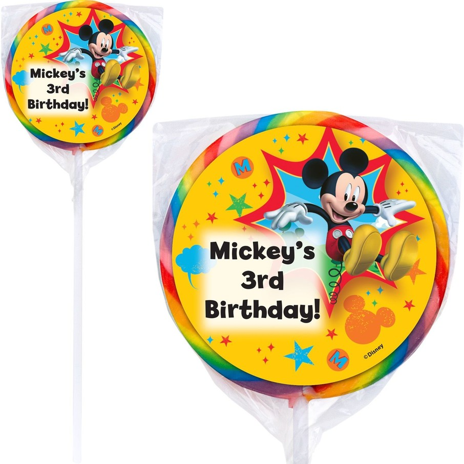 View larger image of Mickey Mouse Personalized Lollipops (12 Pack)