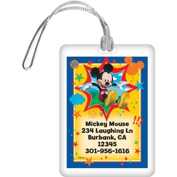 Mickey Mouse Personalized Luggage Tag (Each)