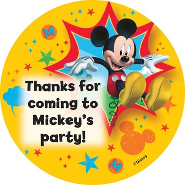 Mickey Mouse Personalized Stickers (Sheet Of 12)