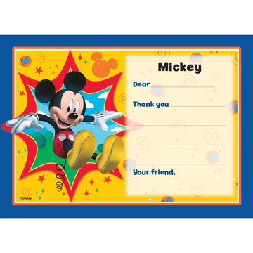 Mickey Mouse Personalized Thank You Note (Each)