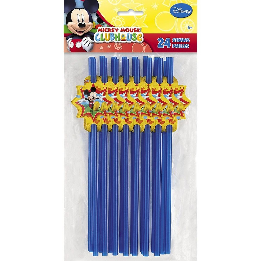 View larger image of Mickey Mouse Straws (24 Pack)
