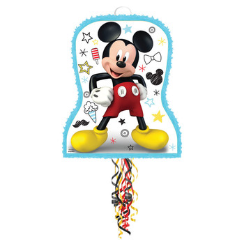 Mickey On The Go Pull String Pinata (1)