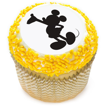 "Mickey Silhouette 2"" Edible Cupcake Topper (12 Images)"