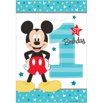 Mickey's Fun To Be One Loot Bags (8 Count)