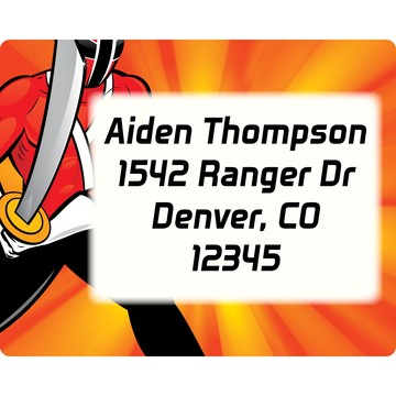 Mighty Heroes Personalized Address Label