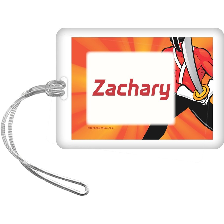 View larger image of Mighty Heroes Personalized Bag Tag (each)