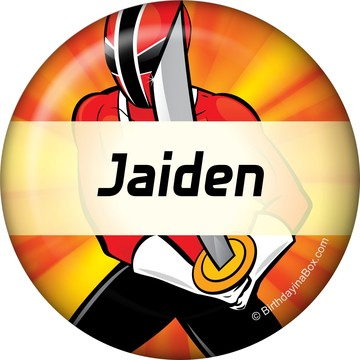 Mighty Heroes Personalized Button (each)