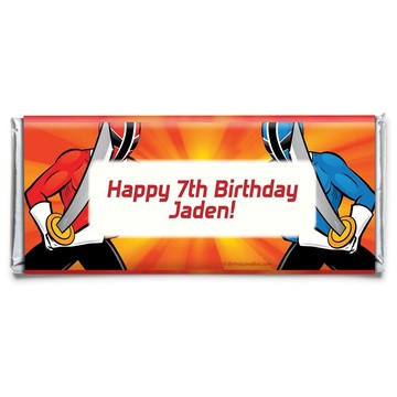 Mighty Heroes Personalized Candy Bar Wrapper (Each)