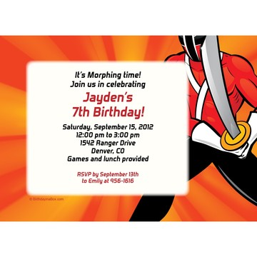 Mighty Heroes Personalized Invitation (each)