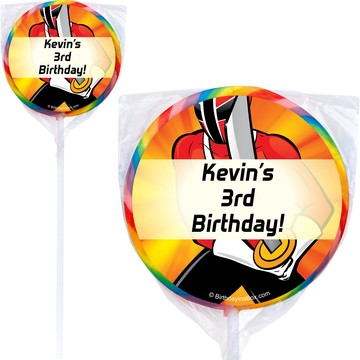 Mighty Heroes Personalized Lollipop (pack of 12)