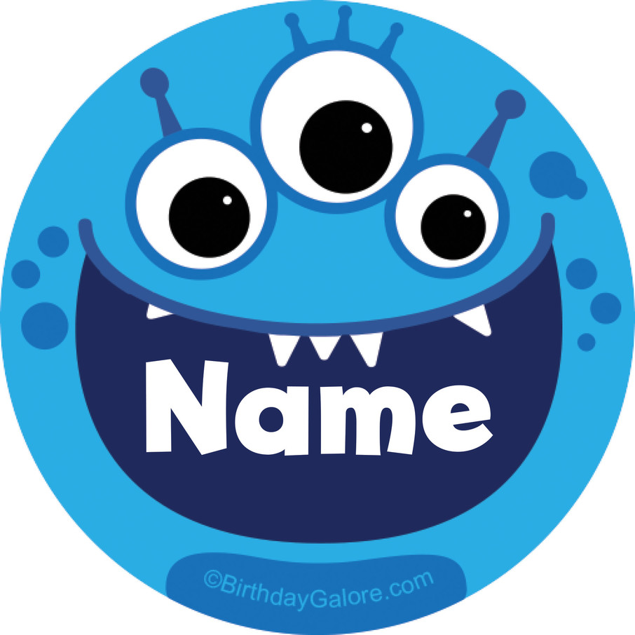 View larger image of Mighty Monster Personalized Mini Stickers (Sheet of 24)