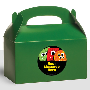Mighty Monster Personalized Treat Favor Boxes (12 Count)