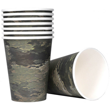 Military Camo Party Cups (8)