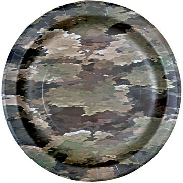 """Military Camo Party Plates 9"""" (8)"""
