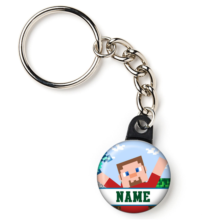 "View larger image of Mind Craft Personalized 1"" Mini Key Chain (Each)"