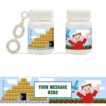 Mind Craft Personalized Bubbles (18 Pack)