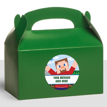 Mine Blocks Personalized Treat Favor Boxes (12 Count)