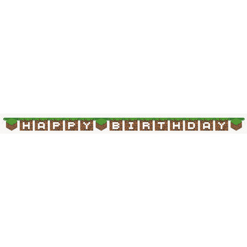 POWER RANGERS NINJA Birthday Party Supplies HAPPY BIRTHDAY JOINTED BANNER SIGN