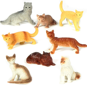 Mini Cat Figurines Assorted (24)
