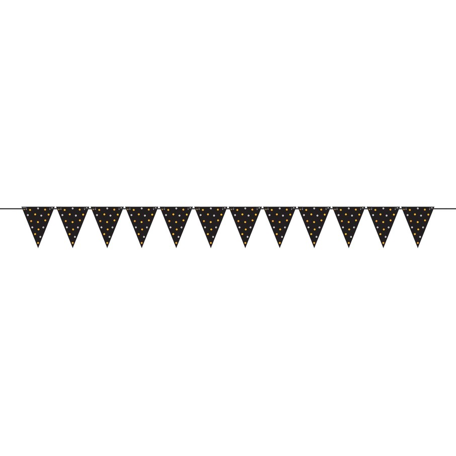 View larger image of Mini Create Your Own Gold & Silver Polka Dots Pennant Banner