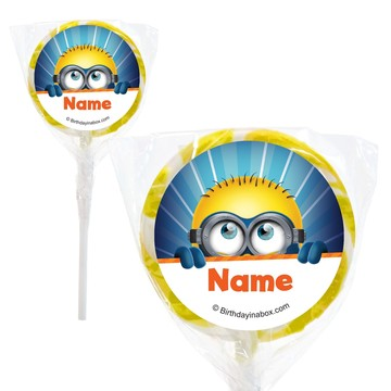 "Minion Personalized 2"" Lollipops (20 Pack)"