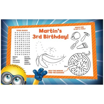 Minion Personalized Activity Mat (8 pack)