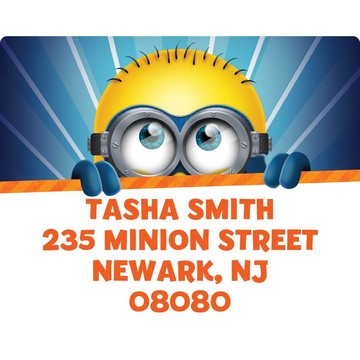 Minion Personalized Address Labels (Sheet Of 15)