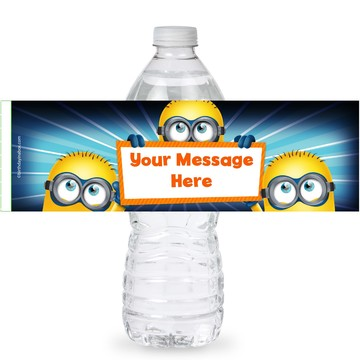 Minion Personalized Bottle Labels (Sheet of 4)
