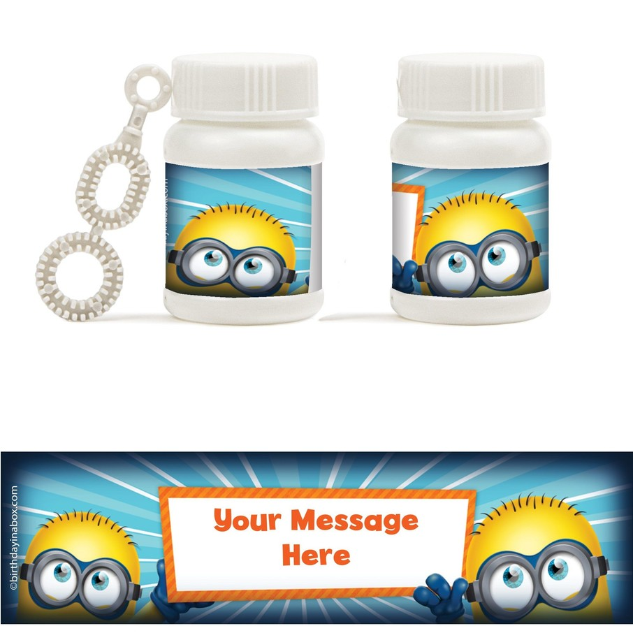 View larger image of Minion Personalized Bubbles (18 Pack)