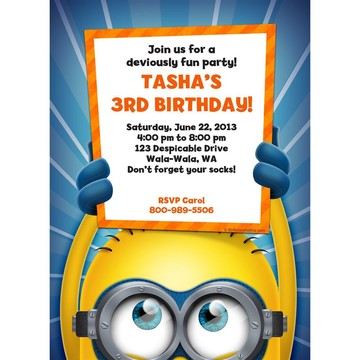 Minion Personalized Invitation (Each)
