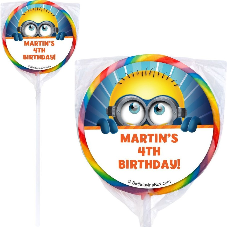 View larger image of Minion Personalized Lollipop (12 Pack)