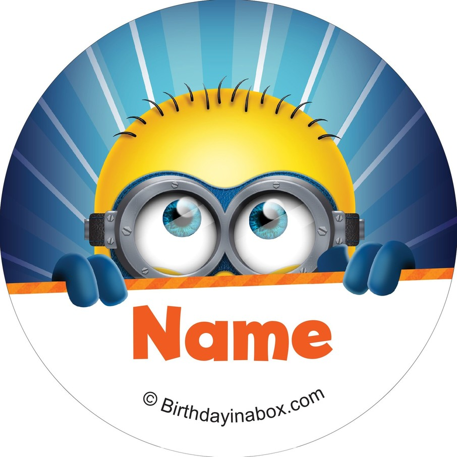 View larger image of Minion Personalized Mini Stickers (Sheet of 24)