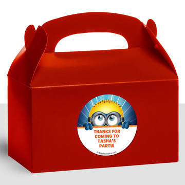 Minion Personalized Treat Favor Boxes (12 Count)