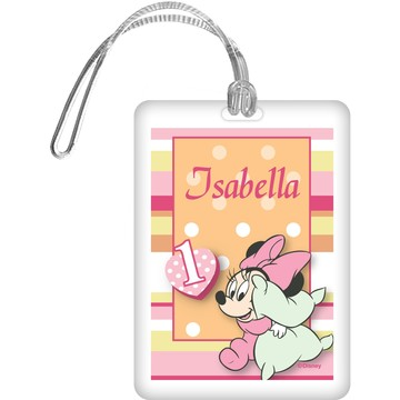 Minnie 1st Bday Personalized Bag Tag (Each)