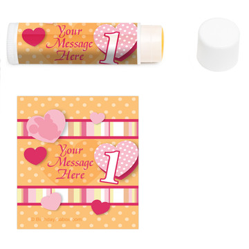 Miss Mouse 1st Bday Personalized Lip Balm (12 Pack)