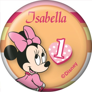 Minnie 1st Bday Personalized Mini Magnet (Each)